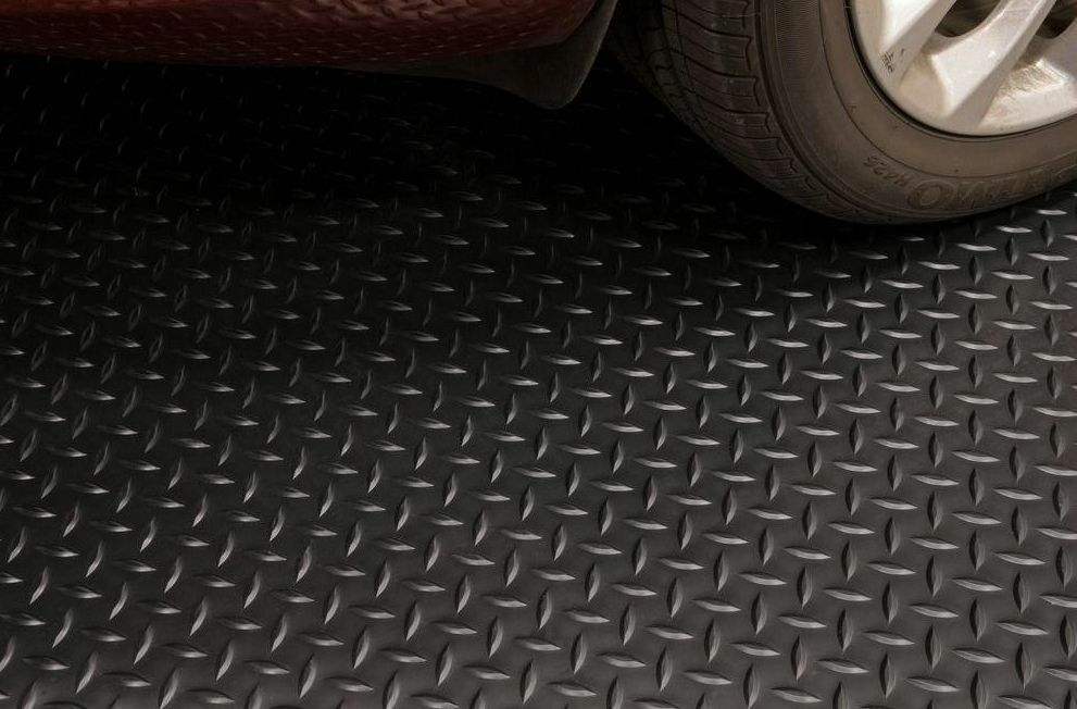 Diamond black 7 5 39 x 14 39 universal garage flooring heavy for Universal flooring