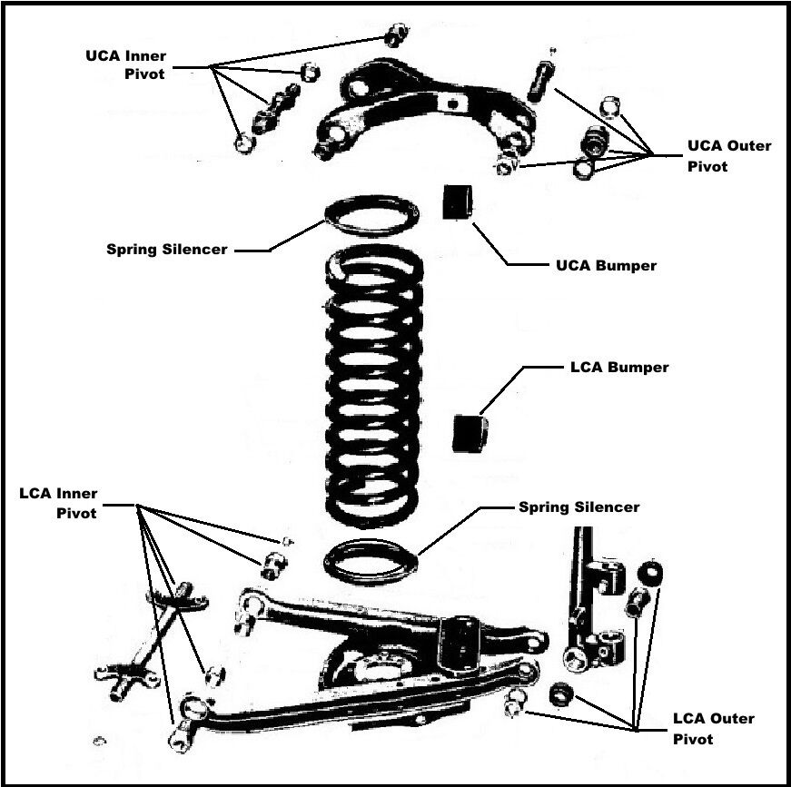 control arm service set for 1955-1956 ply - dodge