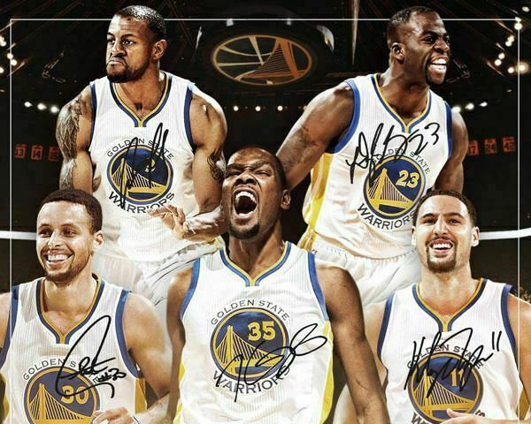 Stephen Curry Kevin Durant Klay Thompson Green Warriors