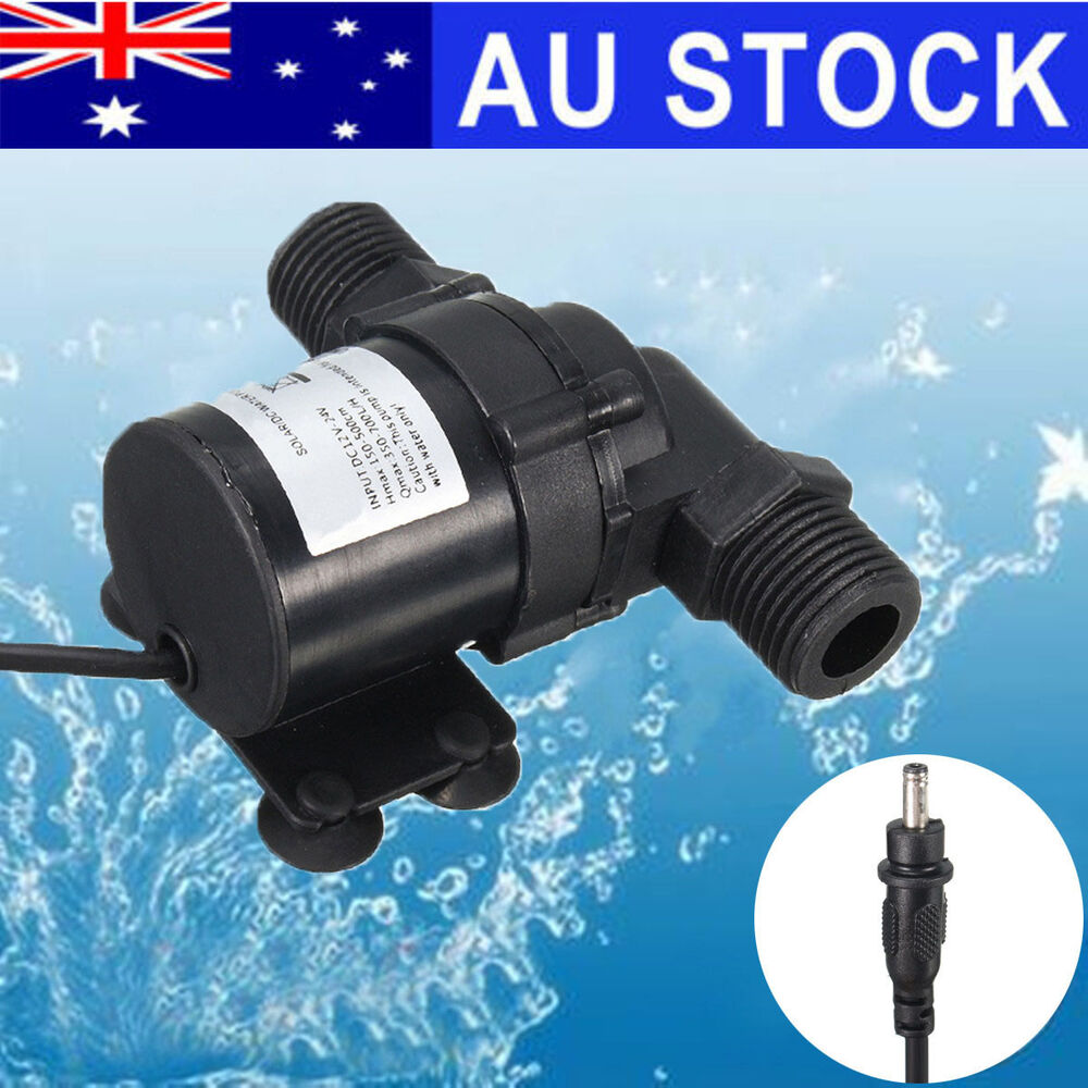 Solar Dc 12v 24v Submersible Brushless Hot Heater Water Circulation Pump 700l H Ebay