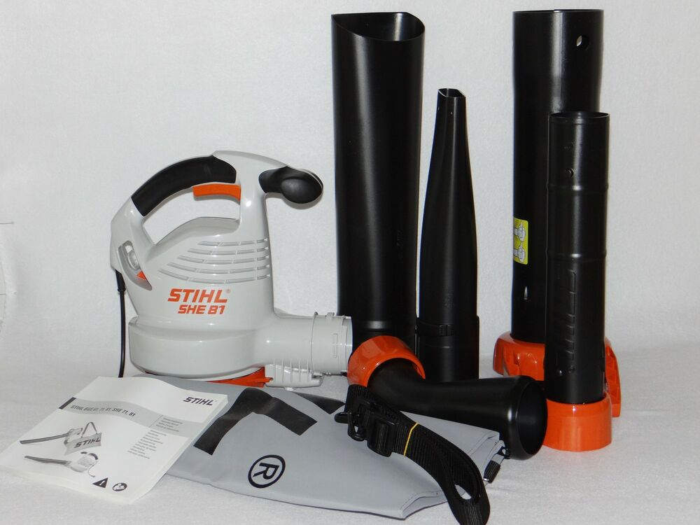 stihl elektro saugh cksler she 81 blasger t neu ebay. Black Bedroom Furniture Sets. Home Design Ideas