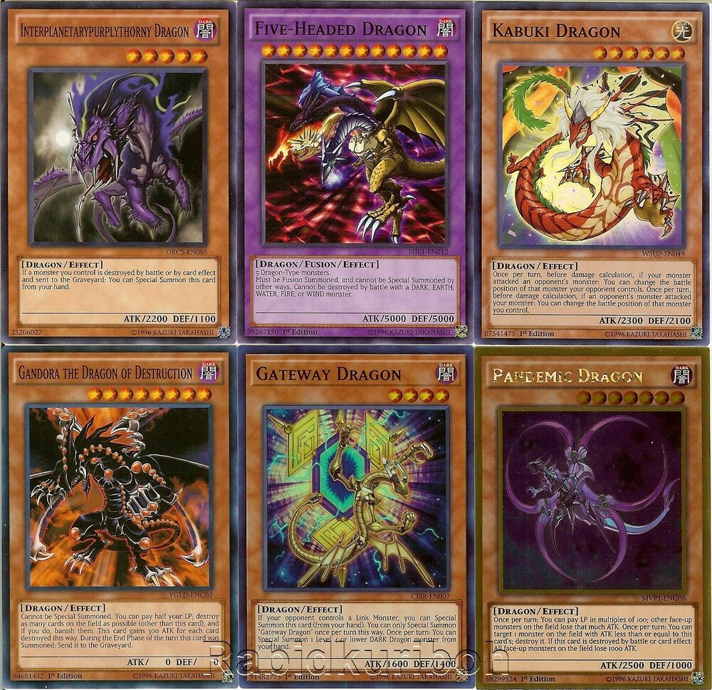 Yugioh five headed dragon and five 5 dragons set lot for Gimnasio 5 dragones