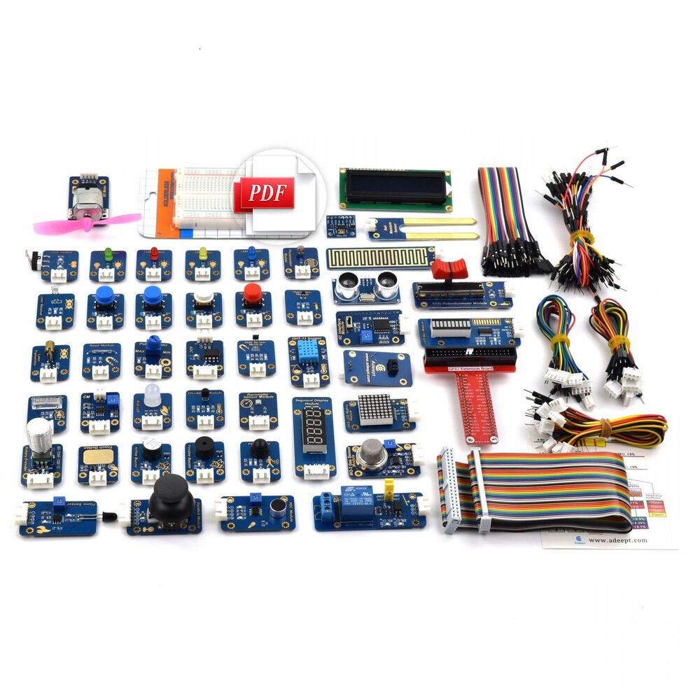 Adeept Ultimate 46 In Sensor Modules Kit For Raspberry Pi 3 2 B Wiringpi Button With Tutorial 745780191882 Ebay