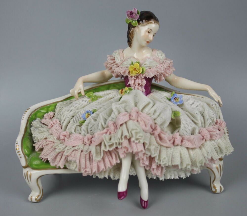 Dresden volkstedt figurine lady sitting on sofa worldwide for Sofa 9 dresden