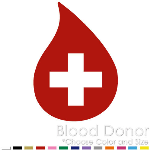 Blood Donor Red Cross Drops Save Life Jesus Window Vinyl Decal