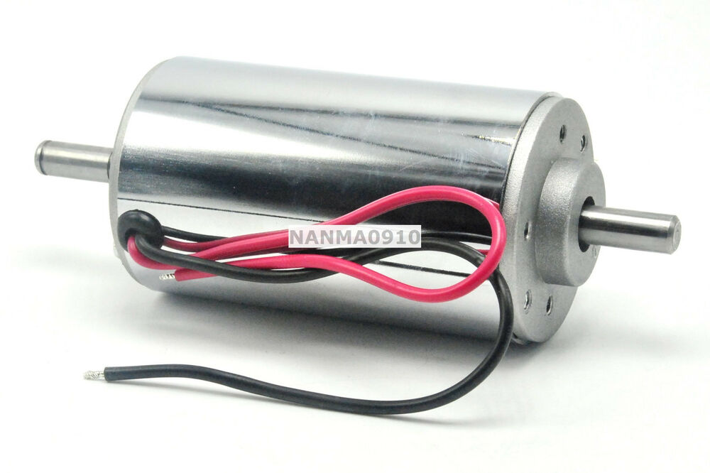 Chrome Cnc Gearmotor 300w Air Cool Brush Spindle Dc Motor