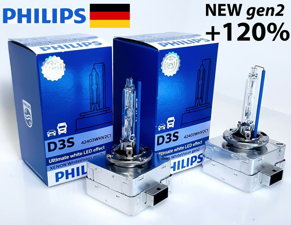 philips d3s xenon white vision gen 2 120 more light. Black Bedroom Furniture Sets. Home Design Ideas
