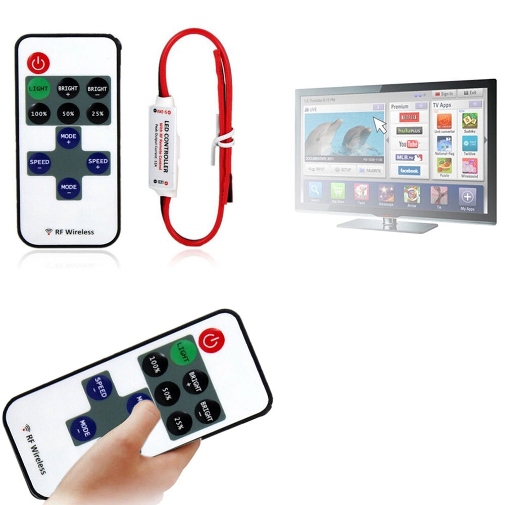mini 12v rf wireless remote switch controller dimmer for led strip light fs0 ebay. Black Bedroom Furniture Sets. Home Design Ideas