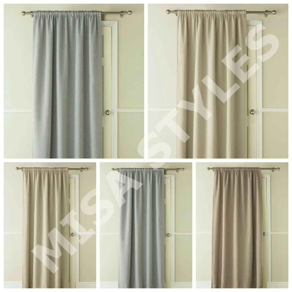 Door Panel Curtains : Luxury thermal self lined blackout energy saving window