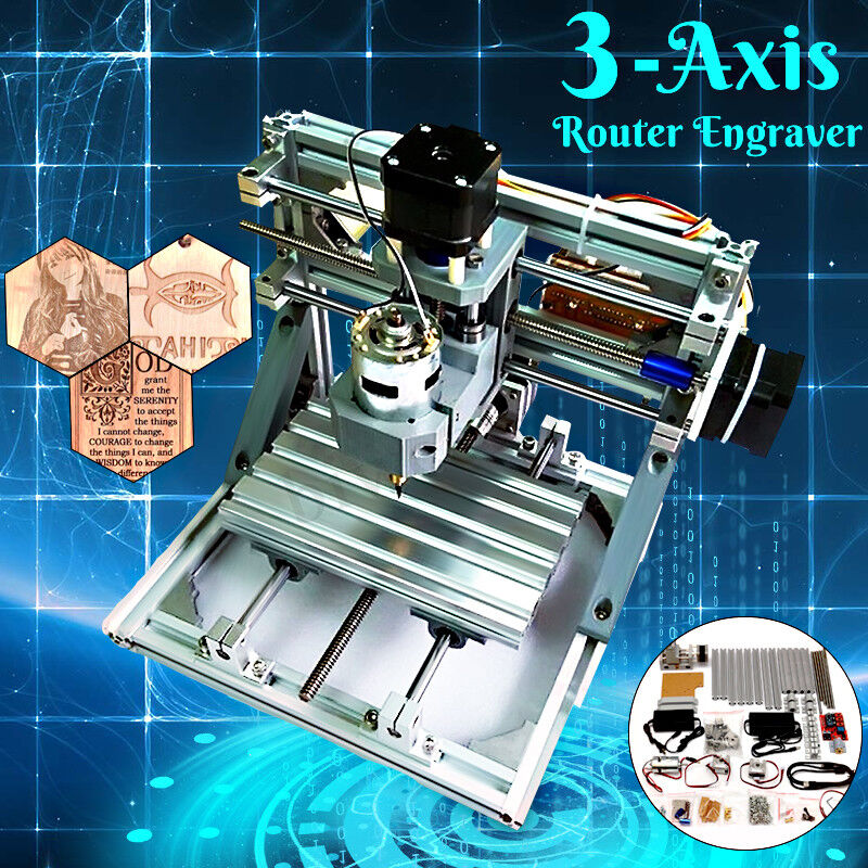3-Axis Mini CNC Router Engraver PCB PVC Milling Wood Carving ...
