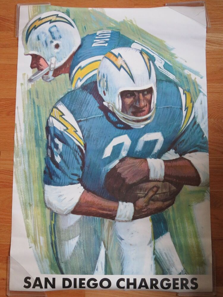 1970 National Football League Poster San Diego Chargers