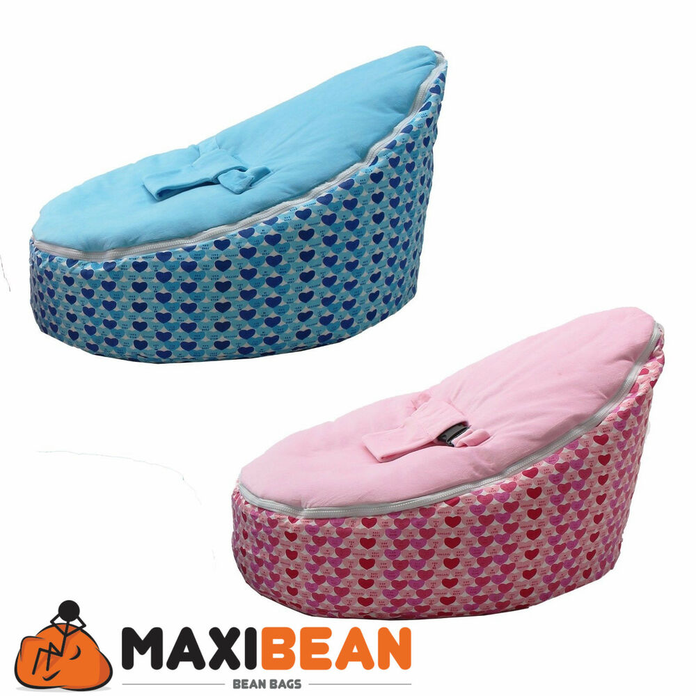 Child lounge chair - Baby Bean Bag Adjustable Harness Kids Toddler Chair Bouncer Beanbag