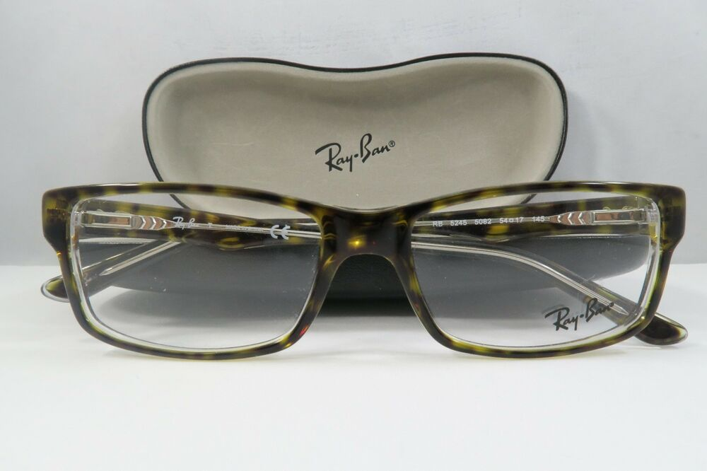 Ray-Ban RB 5245 5082 Havana on Clear New Authentic ...