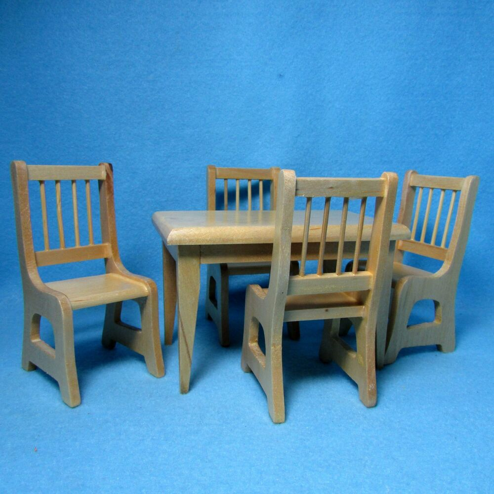 Dollhouse Miniature Kitchen Dining Room Table With