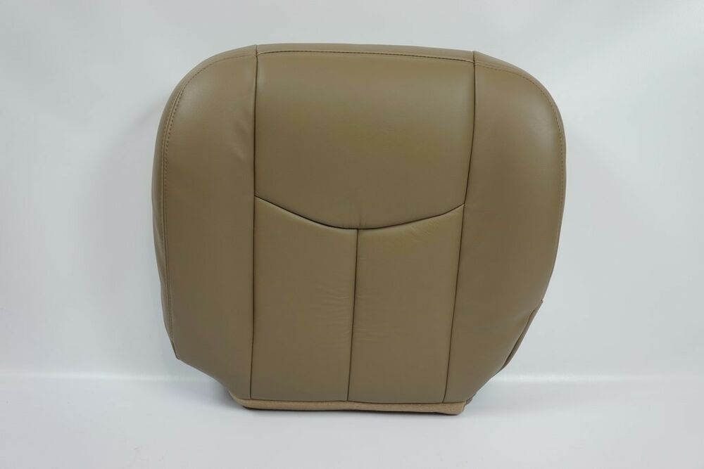 2003 2004 2005 2006 07 chevy silverado gmc sierra bottom seat cover leather tan ebay. Black Bedroom Furniture Sets. Home Design Ideas