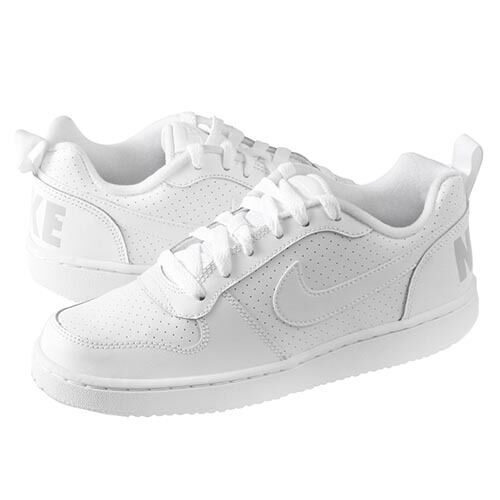 35685c27ac8 Details about Nike Court Borough Low Casual (GS) 839985-100 White White  Sizes 4-7 New In Box