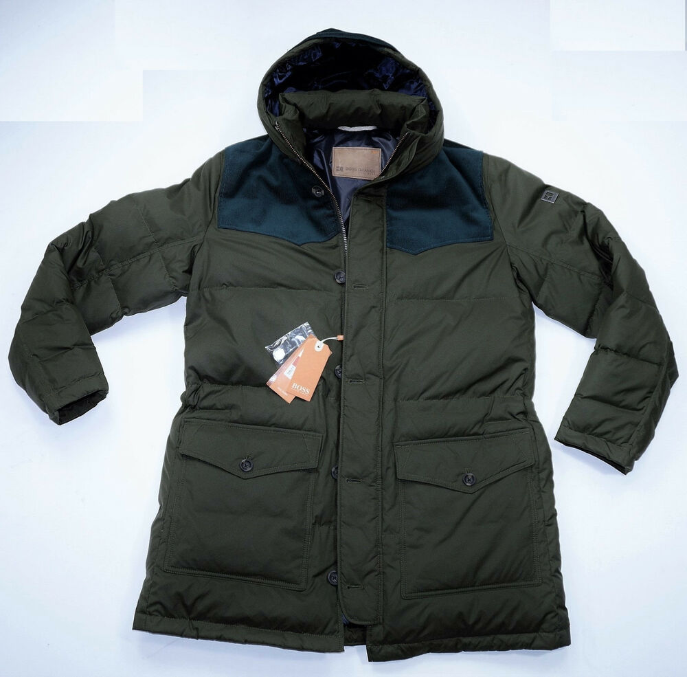 neu hugo boss daunenjacke gr 54 odos herren mantel winterjacke parka ebay. Black Bedroom Furniture Sets. Home Design Ideas