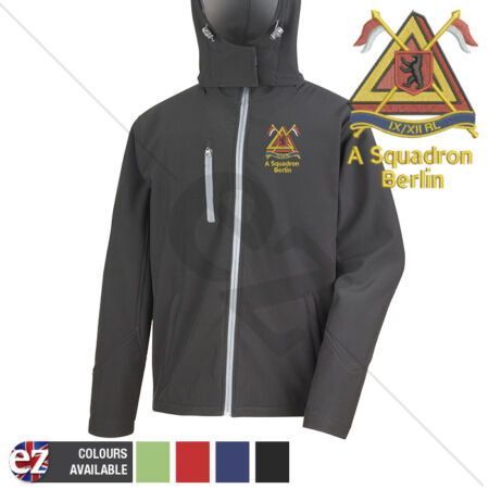 img-9th12th Royal Lancers A Squadron Berlin - Hooded Softshell Jacket