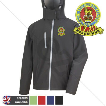 img-15th19th Royal Kings Hussars - Hooded Softshell Jacket - Personalisation