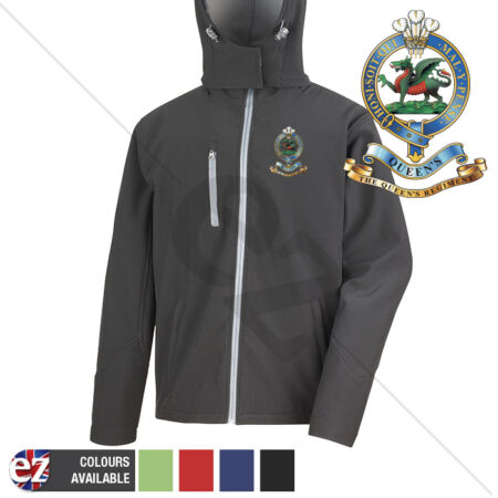 img-Queens Crest - Hooded Softshell Jacket - Personalisation