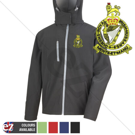 img-Queens Royal Irish Hussars - Hooded Softshell Jacket - Personalisation