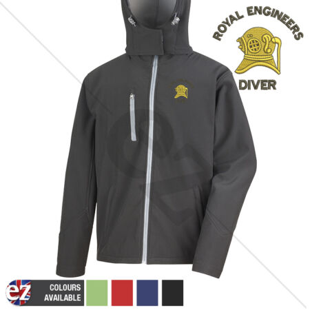 img-Royal Engineers Diver - Hooded Softshell Jacket - Personalisation