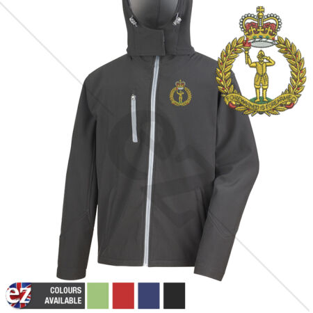 img-Royal Observer Corps - Hooded Softshell Jacket - Personalisation