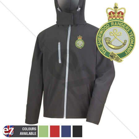 img-Sherwood Ranger Yeomanry - Hooded Softshell Jacket - Personalisation