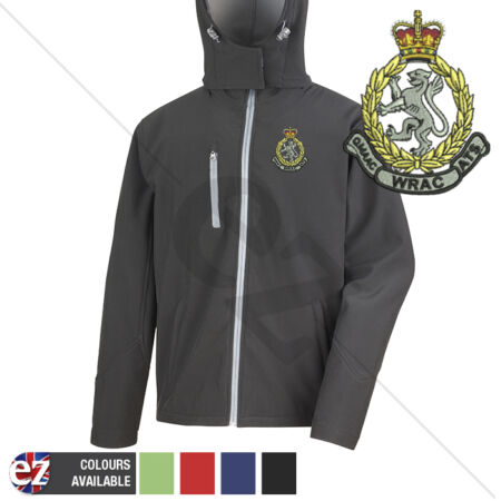 img-Womens Royal Army Pay Corps - Hooded Softshell Jacket - Personalisation
