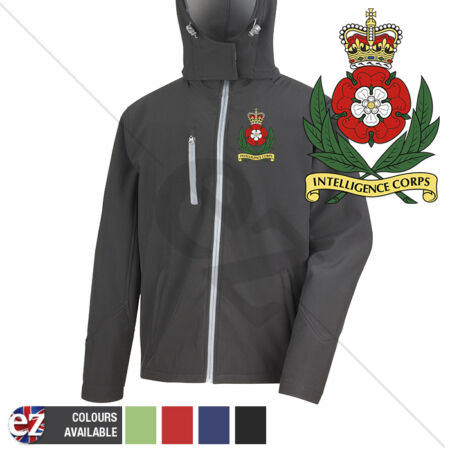 img-Intelligence Corps - Hooded Softshell Jacket - Personalisation