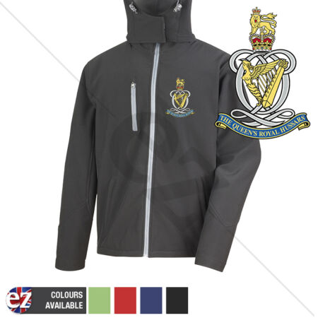 img-Queens Royal Hussars - Hooded Softshell Jacket - Personalisation