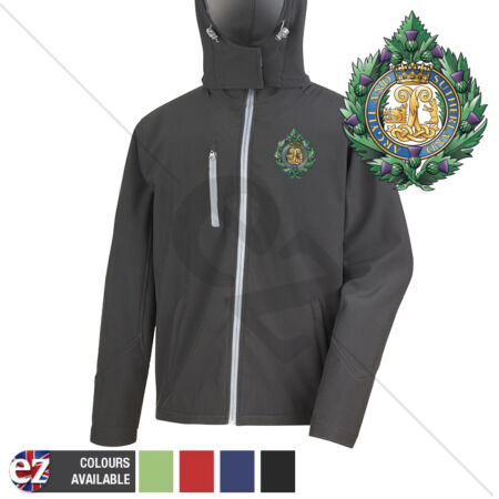 img-Argyll and Sutherland Highlanders - Hooded Softshell Jacket - Personalisation