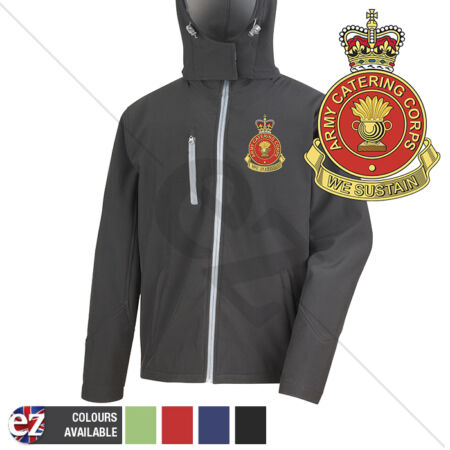 img-Army Catering Corps - Hooded Softshell Jacket - Personalisation