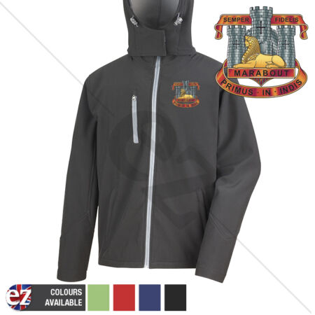 img-Devon and Dorset Regiment - Hooded Softshell Jacket - Personalisation
