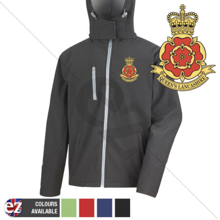 img-Queens Lancashire Regiment - Hooded Softshell Jacket - Personalisation