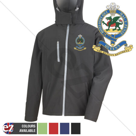 img-Queens Regiment - Hooded Softshell Jacket - Personalisation