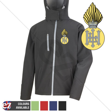 img-Royal Highland Fusiliers - Hooded Softshell Jacket - Personalised text available