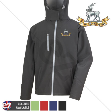 img-Royal Warwickshire - Hooded Softshell Jacket - Personalised text available