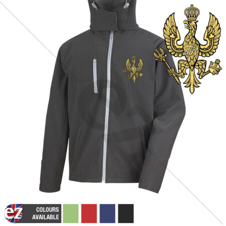 img-14th20th Kings Hussars - Hooded Softshell Jacket - Personalisation