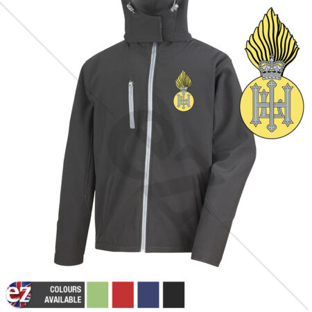 img-Royal Highland Fusiliers - Hooded Softshell Jacket - Personalisation