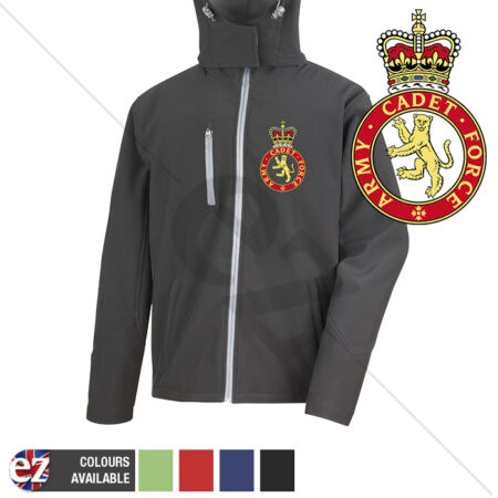 img-Army Cadet Force - Hooded Softshell Jacket - Personalisation
