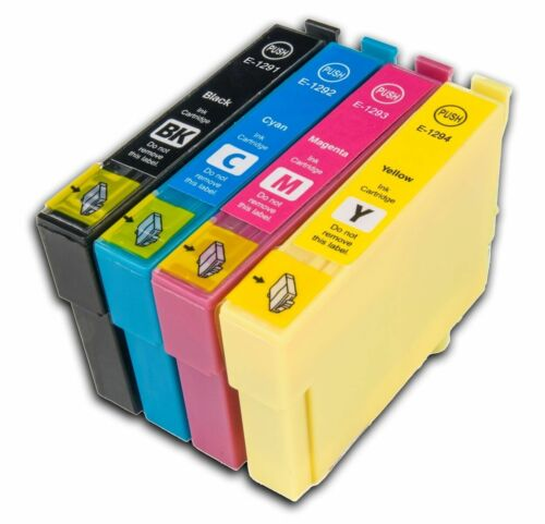 4 T1295 non-OEM Ink Cartridges For Epson T1291-4 Stylus Workforce WF-7515