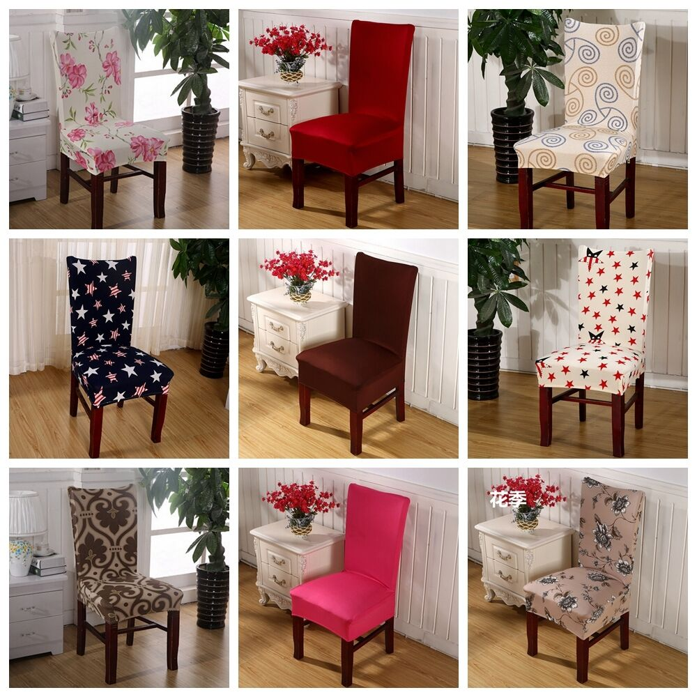 dining room wedding banquet chair cover party decor seat cover stretch spandex ebay