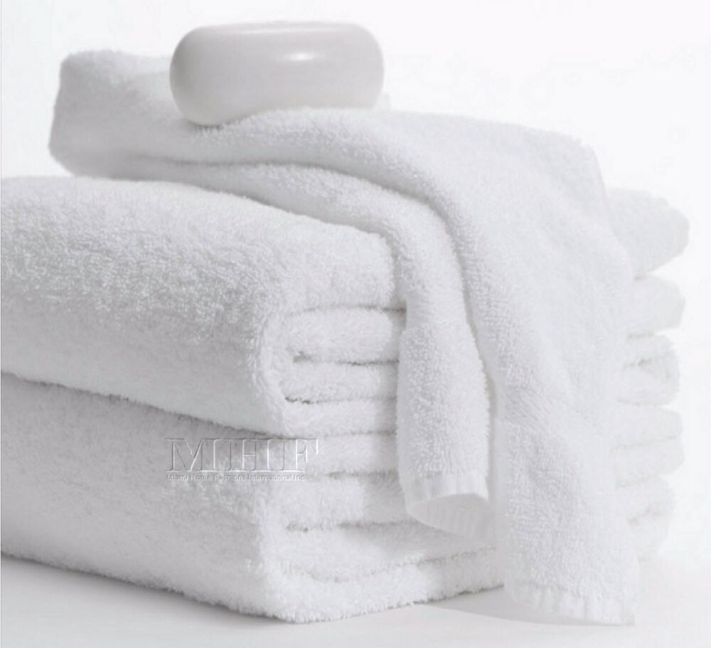 Bath Towels-MHF Brand-24x48 Inches-White- 8.25 Lbs -100