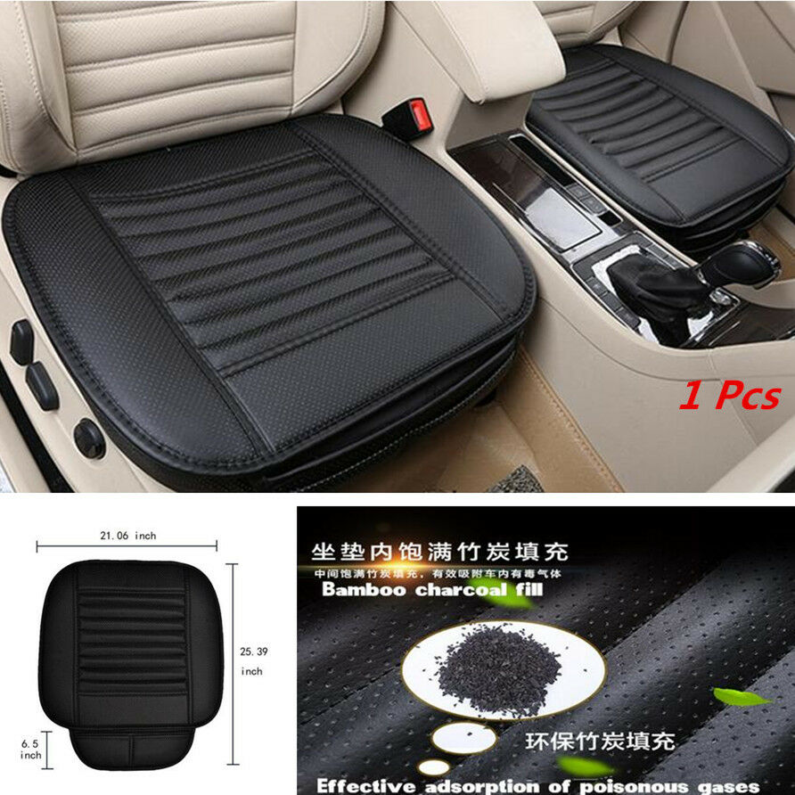 black breathable pu leather bamboo charcoal car office seats chair cover cushion ebay. Black Bedroom Furniture Sets. Home Design Ideas