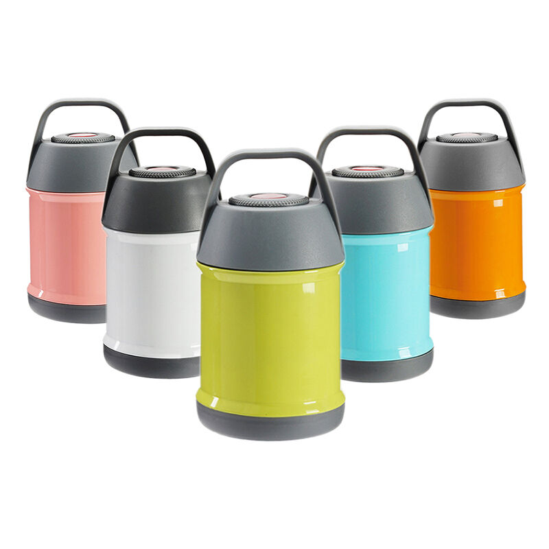 stainless steel insulated lunch box food jar container thermos soup mug handle ebay. Black Bedroom Furniture Sets. Home Design Ideas