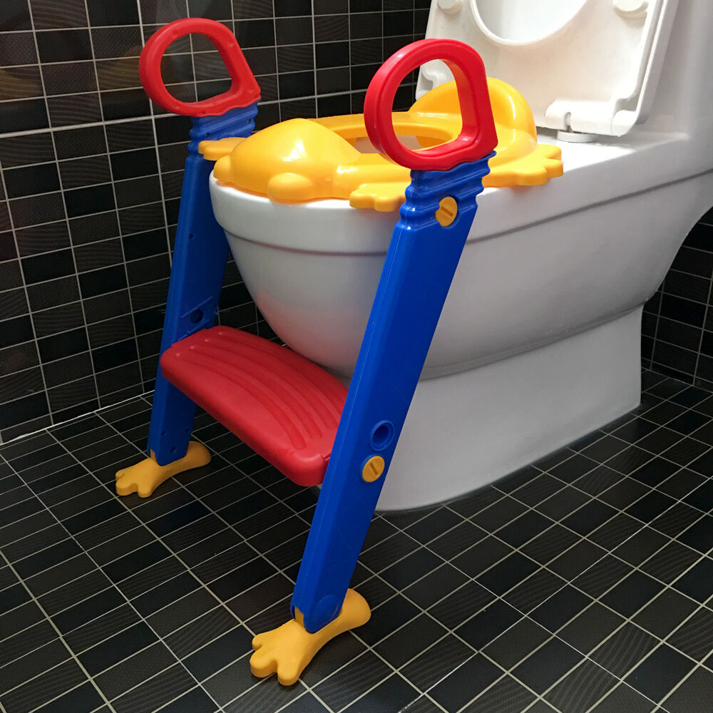 Kids Toilet Potty Trainer Seat Step Up Training Stool