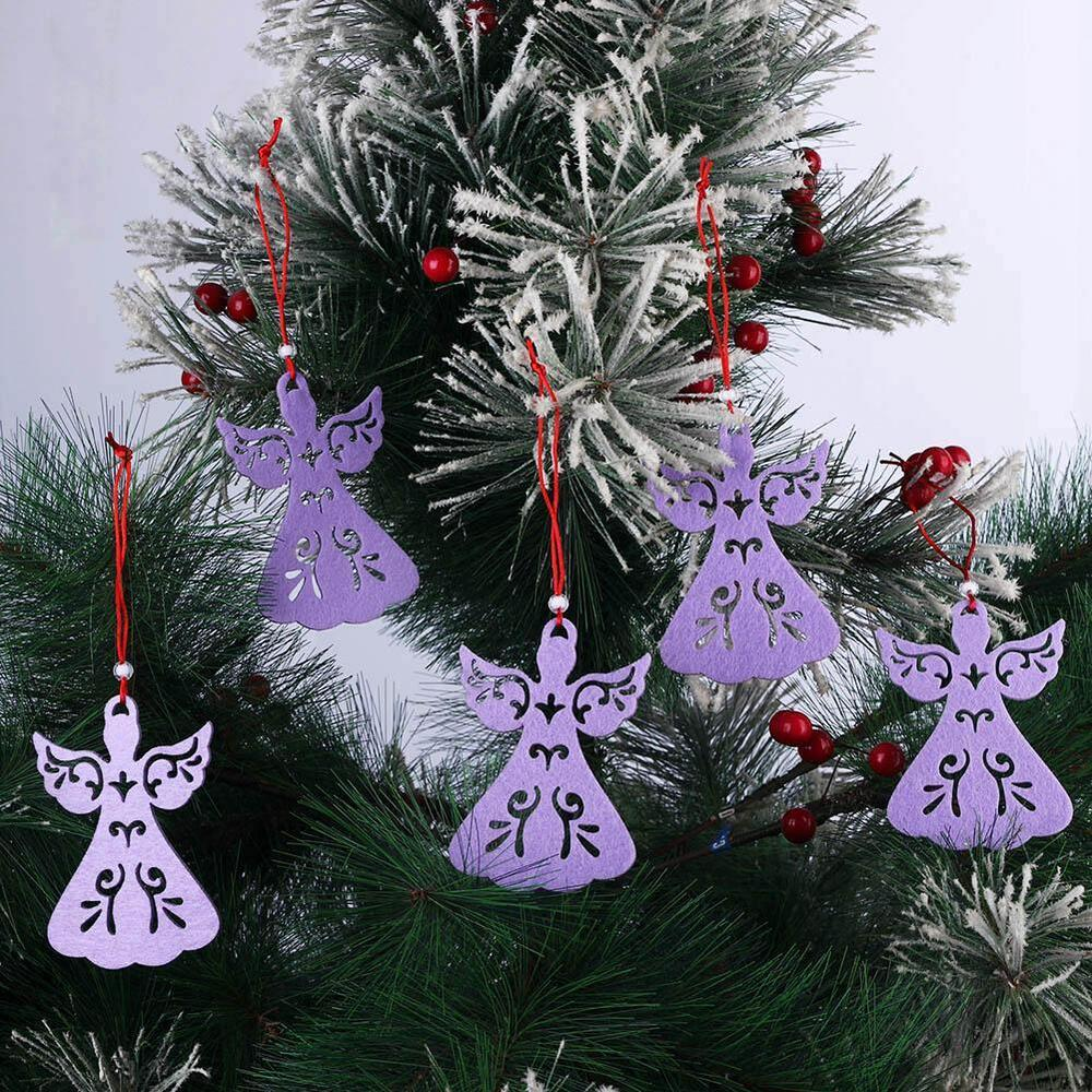 5pcs angel style christmas tree decoration pendant hanging for Angel christmas tree decoration