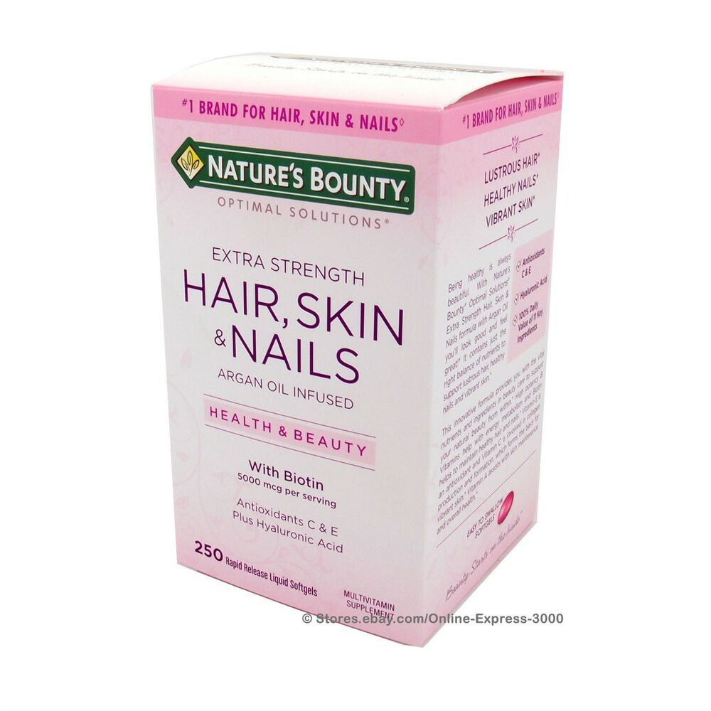 Nature S Bounty Hair Skin And Nails With Argan Oil