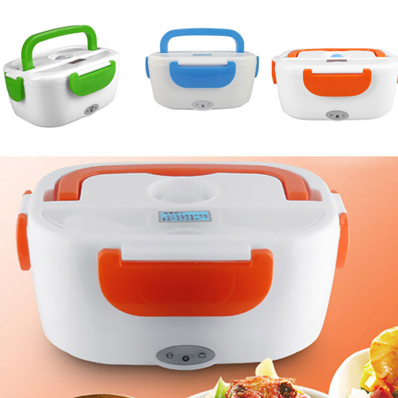 Portable Food Warmer Box ~ Portable electric heated new heating lunch box bento